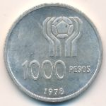 Аргентина, 1000 песо (1977–1978 г.)