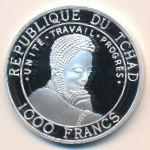 Чад, 1000 франков (1999 г.)