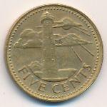Барбадос, 5 центов (1973–1997 г.)