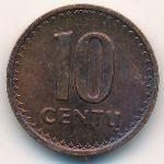 Литва, 10 центов (1991 г.)