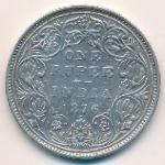 Британская Индия, 1 рупия (1876 г.)