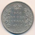 Британская Индия, 1 рупия (1906 г.)