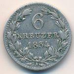 Нассау, 6 крейцеров (1834 г.)