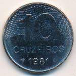 Бразилия, 10 крузейро (1981 г.)
