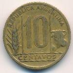 Аргентина, 10 сентаво (1944–1949 г.)