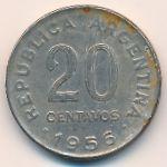 Аргентина, 20 сентаво (1956 г.)