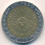 Аргентина, 1 песо (2009 г.)