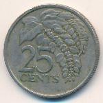 Тринидад и Тобаго, 25 центов (1977 г.)