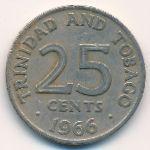 Тринидад и Тобаго, 25 центов (1966 г.)
