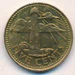 Барбадос, 5 центов (1997 г.)
