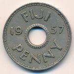 Фиджи, 1 пенни (1957–1965 г.)