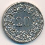 Швейцария, 20 раппенов (1912 г.)