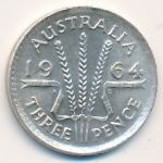 Австралия, 3 пенса (1964 г.)