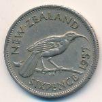 Новая Зеландия, 6 пенсов (1957 г.)