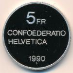 Швейцария, 5 франков (1990 г.)