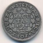 Ангола, 2 макуты (1763 г.)