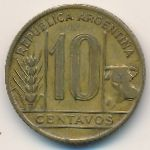 Аргентина, 10 сентаво (1944 г.)