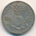 Багамские острова, 5 центов (1981 г.)