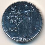 Италия, 100 лир (1992 г.)