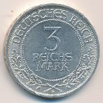 Веймарская республика, 3 рейхсмарки (1926 г.)