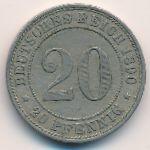 Германия, 20 пфеннигов (1890 г.)