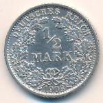 Германия, 1/2 марки (1906 г.)