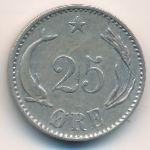 Дания, 25 эре (1891 г.)