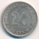 Германия, 20 пфеннигов (1876 г.)