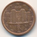 Италия, 1 евроцент (2002–2010 г.)