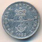Британская Вест-Индия, 1/16 доллара (1822 г.)