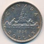Канада, 1 доллар (1936 г.)