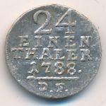 Гессен-Кассель, 1/24 талера (1788 г.)