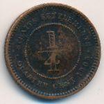 Стрейтс-Сетлментс, 1/4 цента (1905 г.)