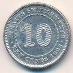 Стрейтс-Сетлментс, 10 центов (1926 г.)