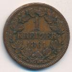 Баден, 1 крейцер (1861 г.)