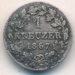 Бавария, 1 крейцер (1867 г.)