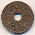 Французский Индокитай, 1/2 цента (1938 г.)