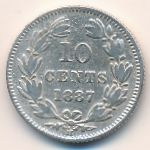 Никарагуа, 10 сентаво (1887 г.)