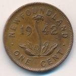 Ньюфаундленд, 1 цент (1942 г.)
