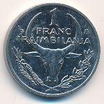 Мадагаскар, 1 франк (1993–2002 г.)