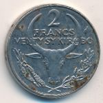 Мадагаскар, 2 франка (1976–1989 г.)