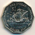 Белиз, 1 доллар (2007 г.)