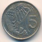 Каймановы острова, 5 центов (1982 г.)