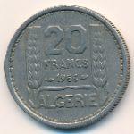Алжир, 20 франков (1956 г.)