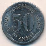 Вальд., 50 пфеннигов (1920 г.)