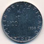 Ватикан, 100 лир (1958 г.)