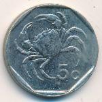 Мальта, 5 центов (1991–1995 г.)
