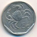 Мальта, 5 центов (1995 г.)