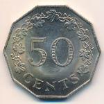 Мальта, 50 центов (1972 г.)