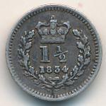 Великобритания, 1 1/2 пенса (1834 г.)